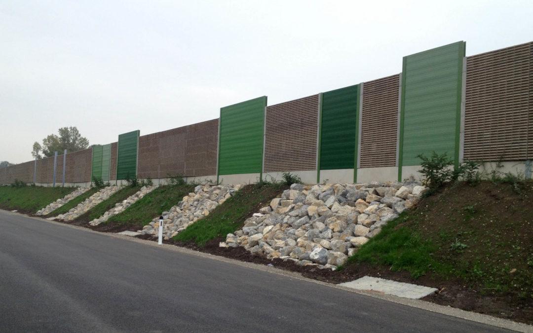 Gestaltung Lärmschutz, A4 Ost Autobahn